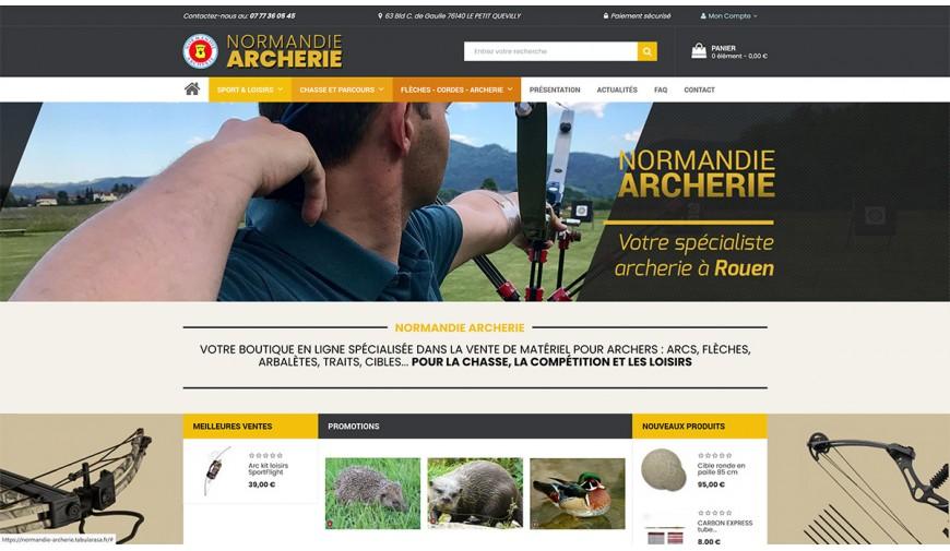 Ouverture de notre nouveau site Internet pour la vente en ligne de matériel pour archers